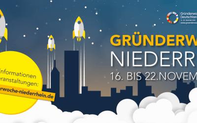 Gründerwoche Niederrhein 2020 - alle Termine - alle Events - mit Corona-Update