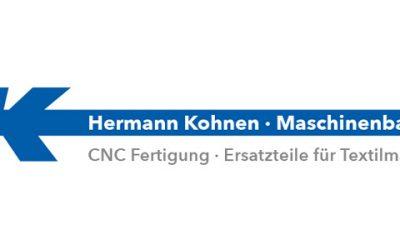 Mitglied kurz vorgestellt: Hermann Kohnen Maschinenbau GmbH